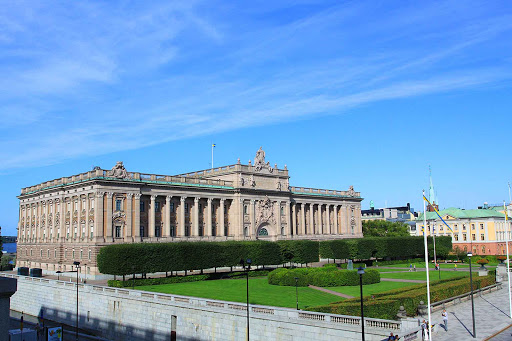 Sweden-Stockholm-Parliament-House-Riksdagshuset - Parliament House (Riksdagshuset) is located in central Stockholm.