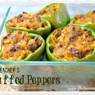 Mrs. Peachey's Stuffed Peppers.