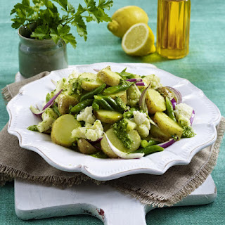 Cauliflower and Pesto Potato Salad
