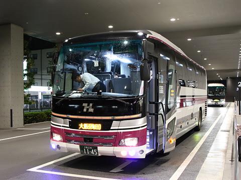 阪急バス「大阪・京都~富山線」 1145 新大阪到着