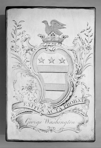 Copper Printing Plate for Bookplate of George Washington