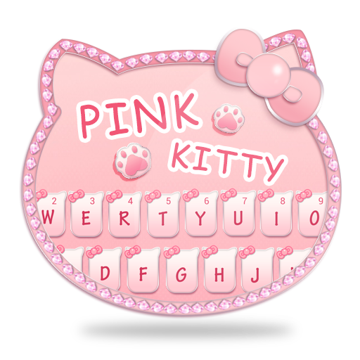 Pink Diamond Kitty Keyboard Theme