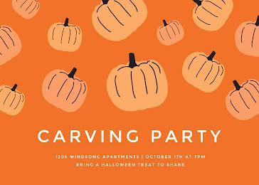 Carving Party - Halloween Template