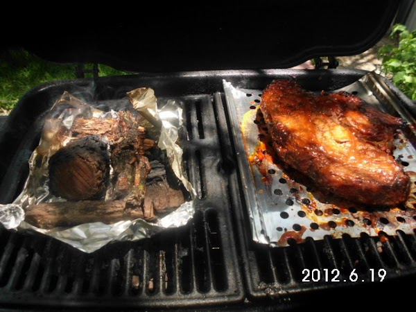 Using a gas grill, light only one side of grill.  Place chuck over...