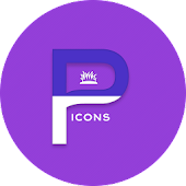 OJ Purple - Round Icon Pack