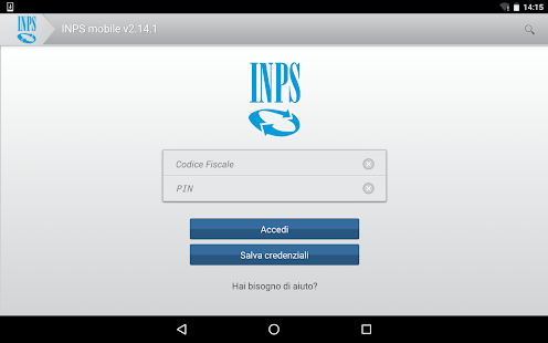 INPS mobile per Tablet- screenshot thumbnail