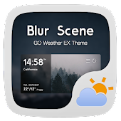 Blur Scene GO Weather Widget
