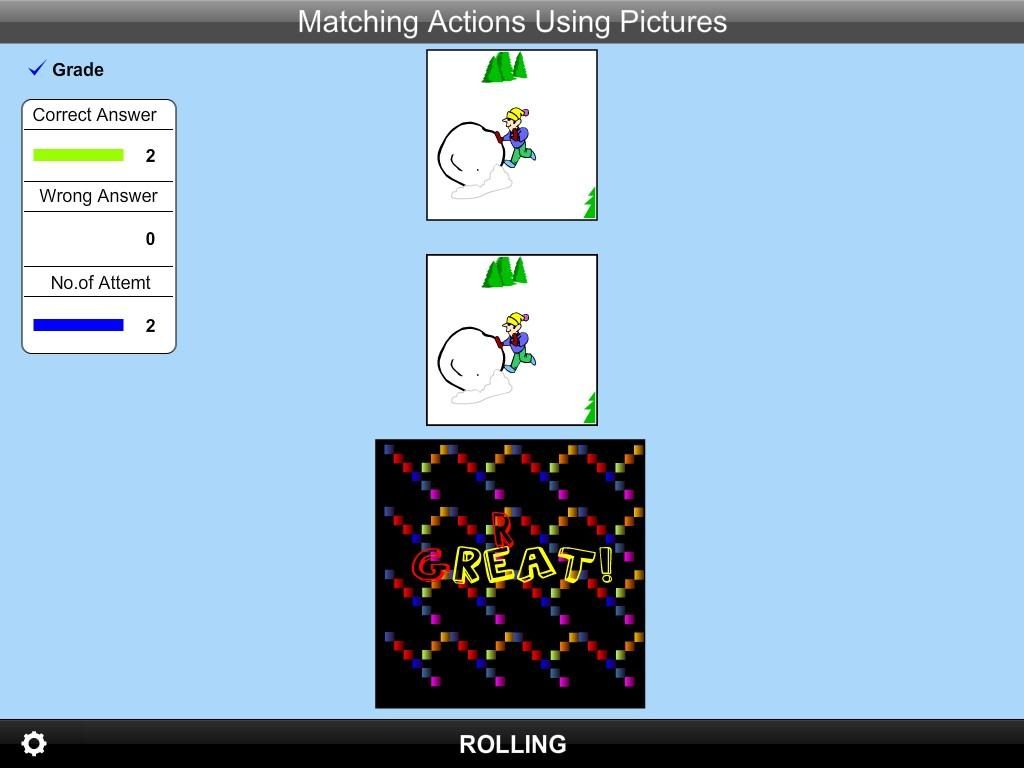 Matching Action Using Pic Lite- screenshot