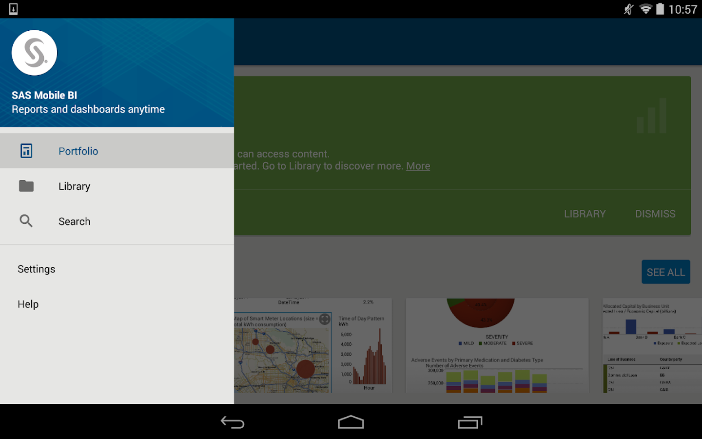 SAS Mobile BI- screenshot