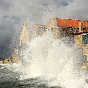 Wave after wave... by Zvonimir Cuvalo - News & Events Weather & Storms ( adriatic, southern storm, waves, weather, storm )