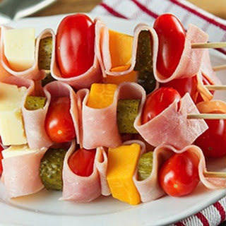 Cheddar and Ham Skewers Recipe