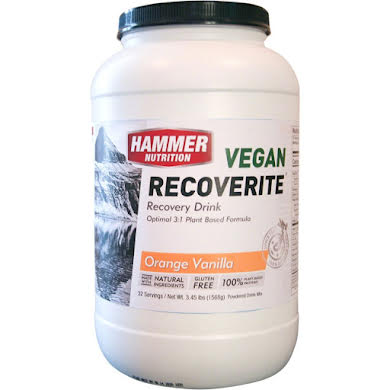 Hammer Nutrition Vegan Recoverite Drink Mix: Orange Vanilla 32 Servings