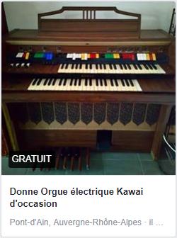 article occasion orgue electrique marketplace facebook