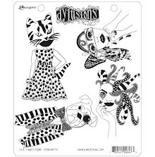 Dylusions Cling Stamps 8.5X7 - The Fancy Four