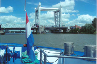 Photo: Then we sailed to our next port of call - Dusseldorf. Unfortunately, we left the fine Dutch weather behind us.