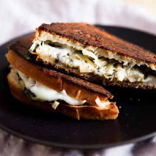 Spinach and Artichoke Grilled Cheese Sandwiches.