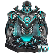 3d neon iron hero theme