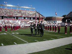 Photo: Color Guard at Alumni Stadium