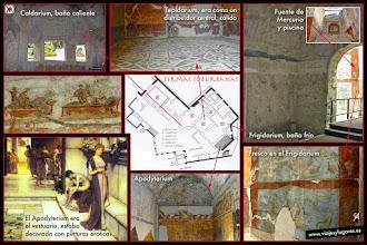 Photo: 3: Constan de: el Apoditerium, un vestuario, el Tepidarium, lugar central cálido, donde esperaba la gente para pasar a las otras salas. La sala de baño caliente, el Caldarium y la de agua fría, el Frigidarium. También estaba la Fuente de Mercurio.