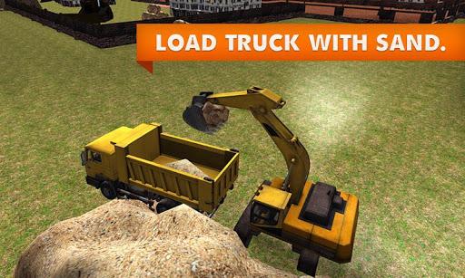 砂掘削機のトラックのシミュレーター
