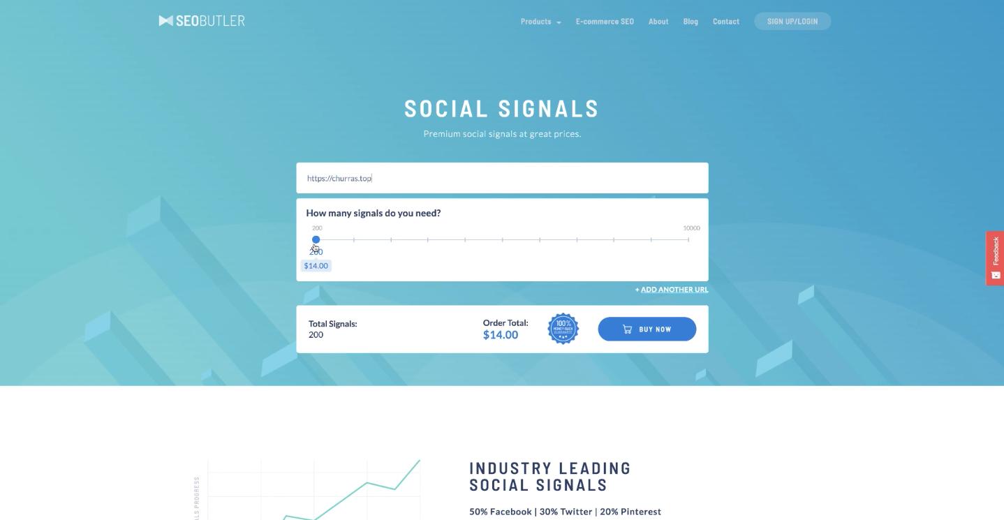 ferramenta para comprar sinais sociais