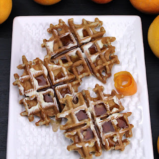 Cranberry Orange Waffles.