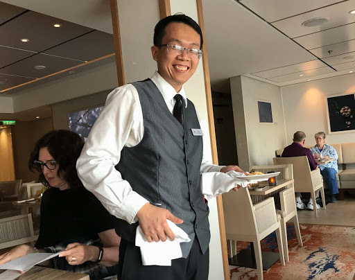 waiter-at-chefs-table.jpg - Fernando, a waiter in The Chef's Table aboard Viking Sun.