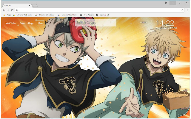 Black Clover Anime HD Wallpapers New Tab