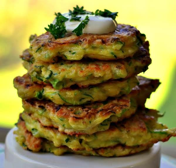 Crispy Cheesy Zucchini Fritters Recipe