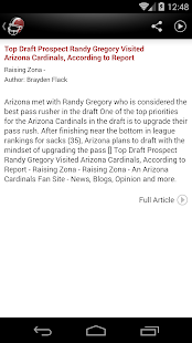 Arizona Football News- screenshot thumbnail