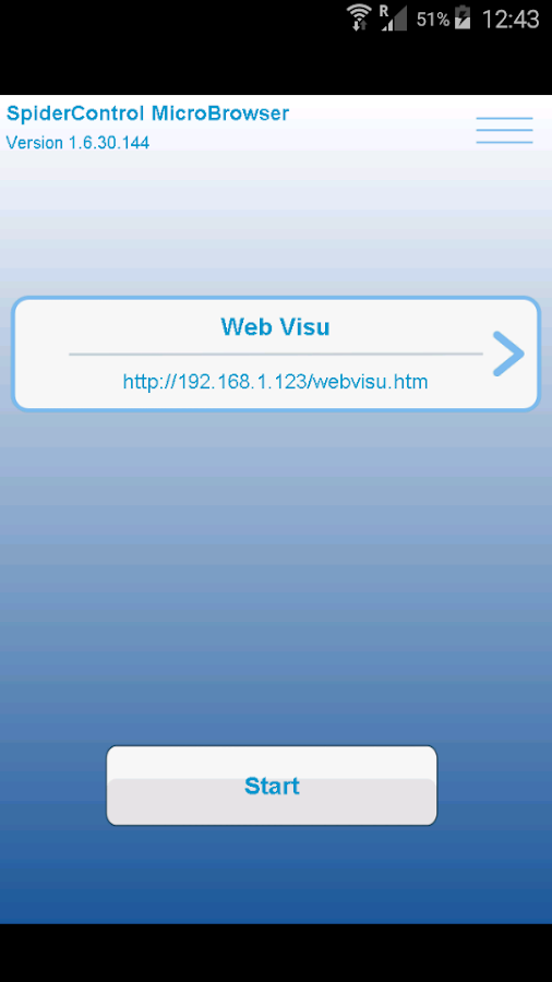 SpiderControl MicroBrowser- screenshot