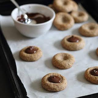 Almond Chocolate Thumbprint Cookies.