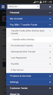 SHINHAN CANADA BANK E-Banking - náhled