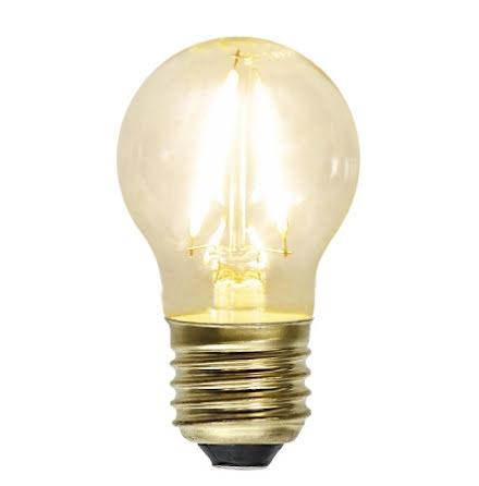 Decoration LED Klar filament lampa Klot E27 2100K 120lm