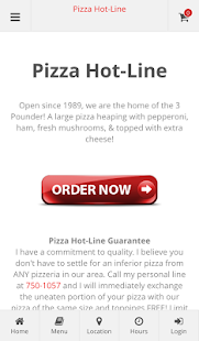 Pizza Hot-Line Online Ordering- screenshot thumbnail