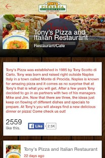 Tony's Pizza- screenshot thumbnail