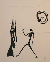 """Photo: Lost In a Lost World20"""" x 18""""2005 - 2007Pen & Ink on paper"""