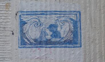 """Photo: Stencil; Unknown Artist; """"Meerjungfrau"""""""