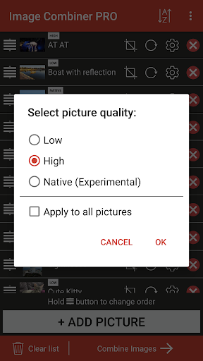 Screenshot for Image Combiner PRO in United States Play Store