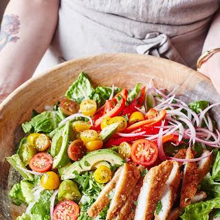 Honey Mustard Chicken Tender Salad.