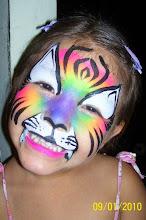 Photo: Rainbow tiger face painting by Sofia, Calimesa, Ca 888-750-7024
