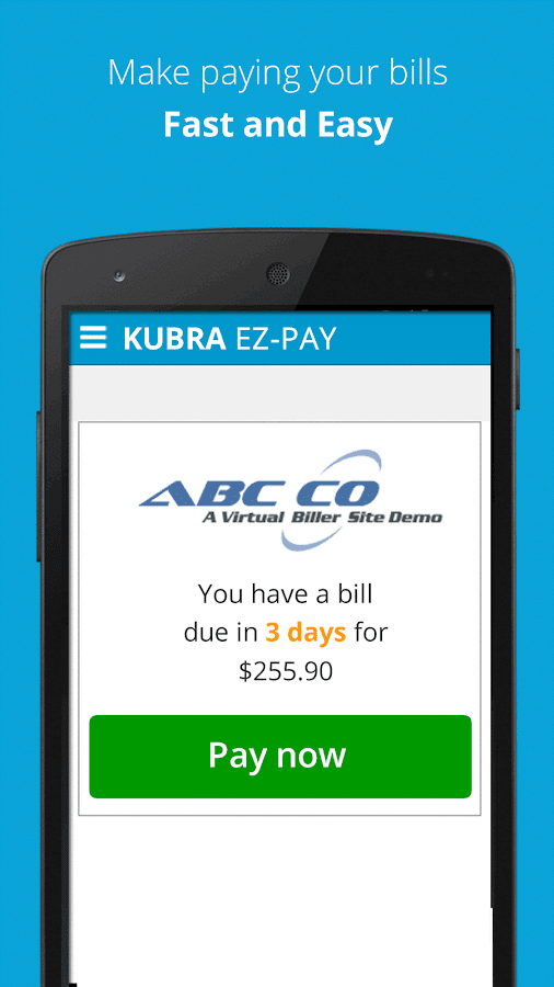 KUBRA EZ-PAY- screenshot