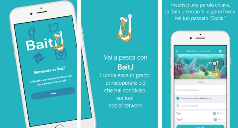 """BaitJ: L'app per """"pescare"""" i tuoi ricordi su Facebook e Twitter"""