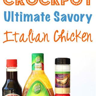 Crockpot Savory Italian Chicken