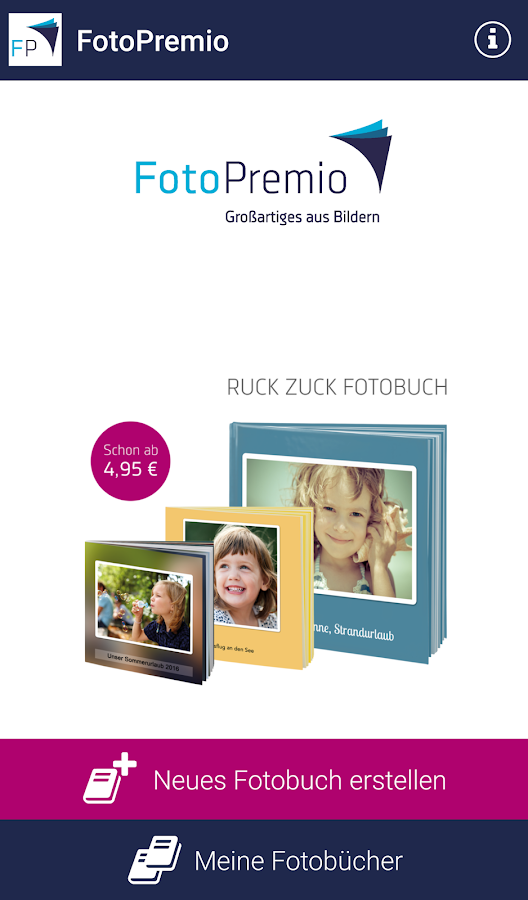 fotopremio fotobuch erstellen android apps on google play. Black Bedroom Furniture Sets. Home Design Ideas