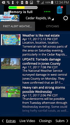 KCRG-TV9 First Alert Weather Screenshot