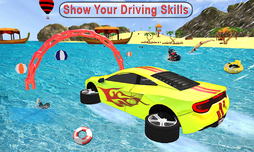 Water Surfer car Floating Beach Drive apkpoly screenshots 1