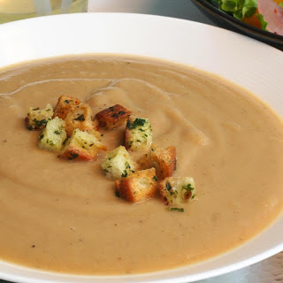 Apple-Chestnut Soup with Parsley Croutons