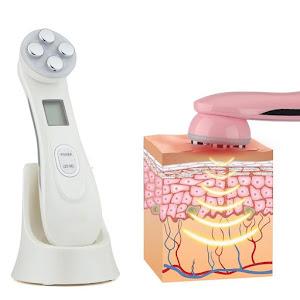 Aparat masaj facial cu ultrasunete, fototerapie, antirid