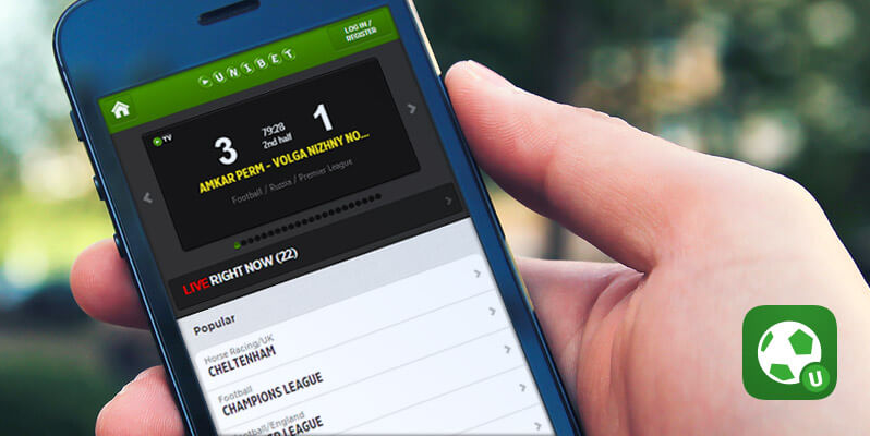 Мобильное приложение Unibet на iOS